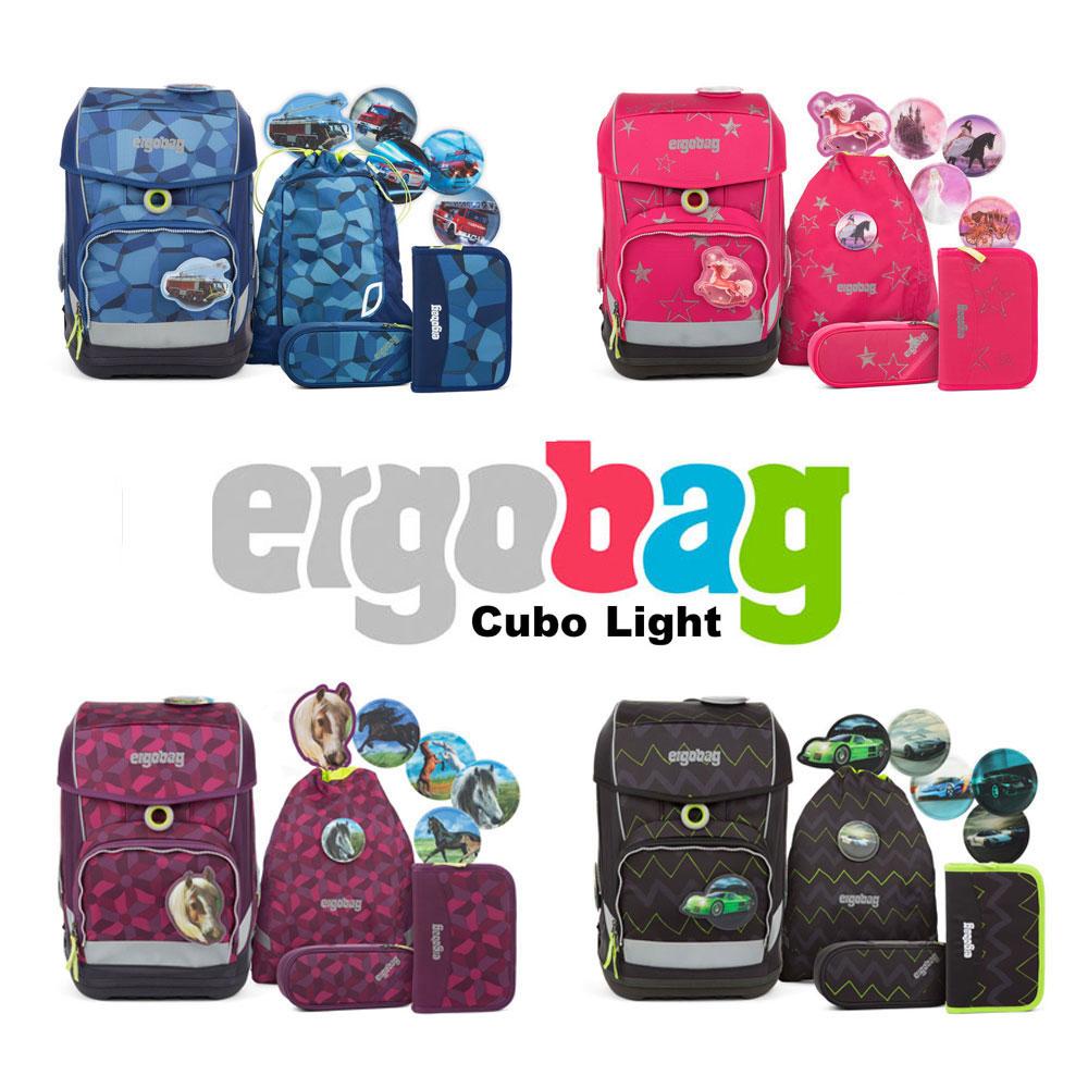 b29795f39b5c5 Ergobag Cubo Light Schulranzen-Set 5tlg - verschiedene Motive